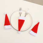 Mini Christmas Hats Cutlery Caps Holder For Fork Spoon Pocket Kitchen Tableware Christmas Table Decorations