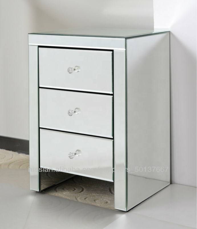 2020 Новое Поступление Современная зеркальная мебель с 3 ящиками комод прикроватная тумбочка