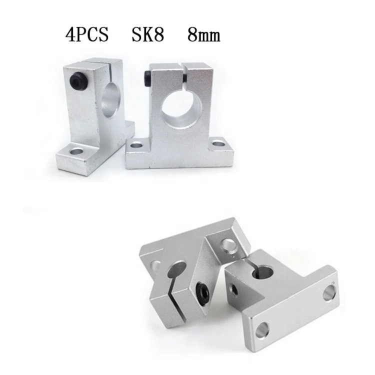 Shaft Supported Linear Shaft Support Linear Rod CNC Router