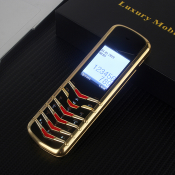Unlocked metal body business feature Luxury Gold phone K6 without camera Classic Design Dual sim card MP3 telefono