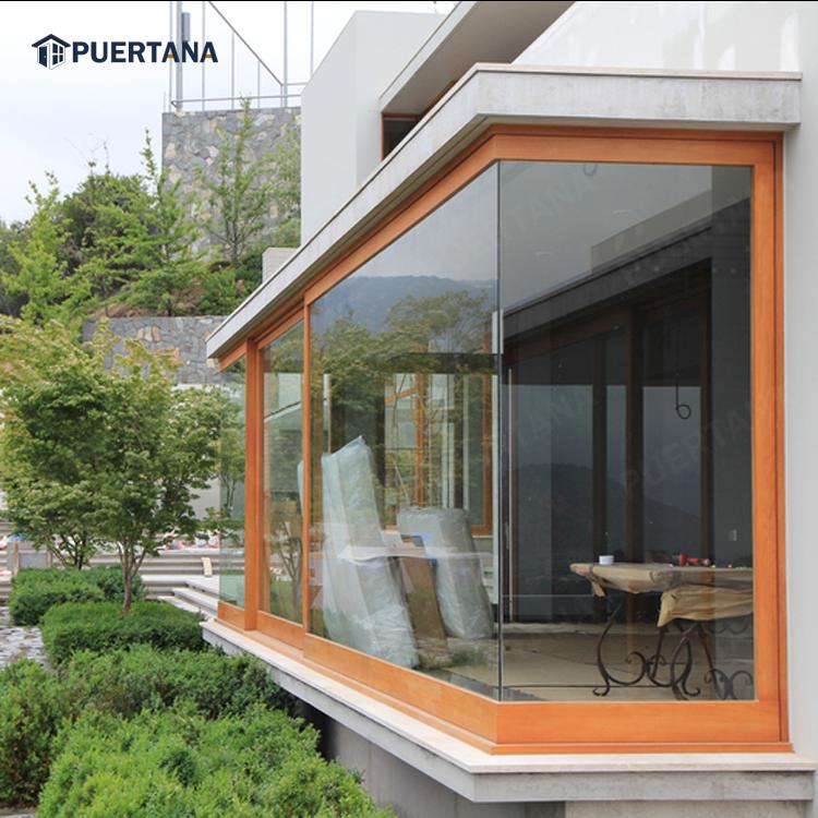 Дизайн алюминиевого углового стекла/L-образное окно/угловое стыковое оконное стекло