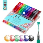 Art Supply Adult Kids Drawing 12 Colors Gel Pens Glitter