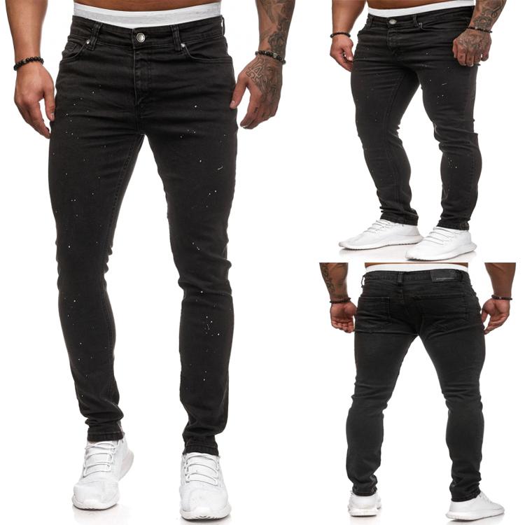 Pantalones Vaqueros Elasticos De Algodon Y Poliester Para Hombre Punto Blanco Y Negro Buy Nuevos Jeans Para Hombre Jeans Para Hombre Jeans Para Hombre Product On Alibaba Com