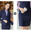 Women royalblue suits(blazer+skirts)
