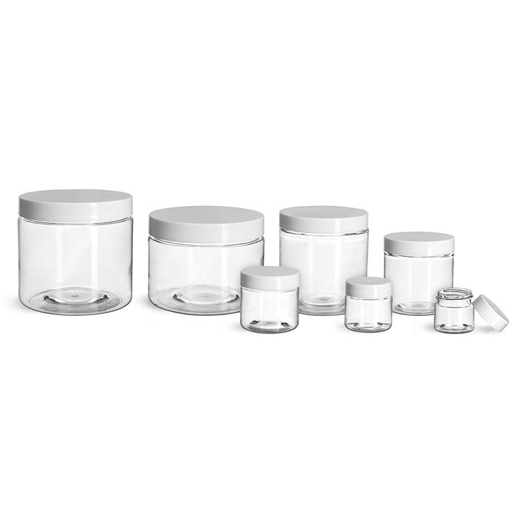 In Stock 30ml 50ml 100ml 120ml 200ml 250ml 500ml Plastic Pet Face Cream Jar with Lid