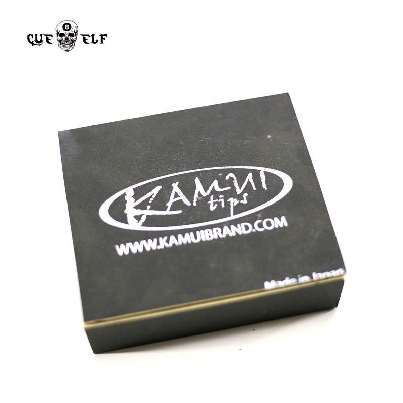 Cueelf kamui cue tips 14 mm black m clear tip 50pcs per box
