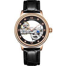 GUANQIN 2020 новые мужские часы Топ люксовый бренд автоматические светящиеся мужские часы полые турбийон водонепроницаемые механические часы ...(Китай)