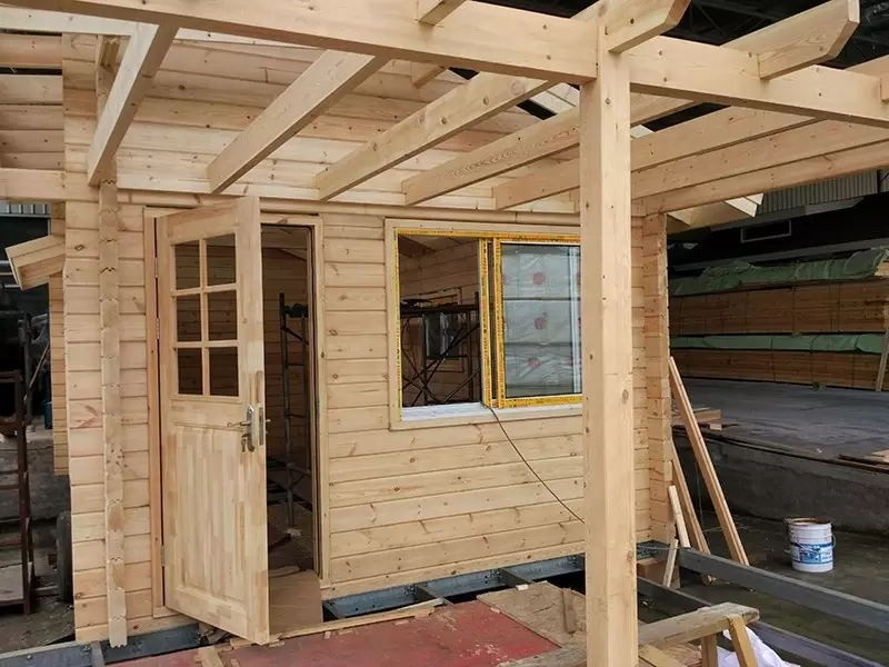 2020 best selling customized prefabricated wood house wooden log cabin villa movable modular building easy assemble outdoor