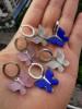 hoop butterfly  earring