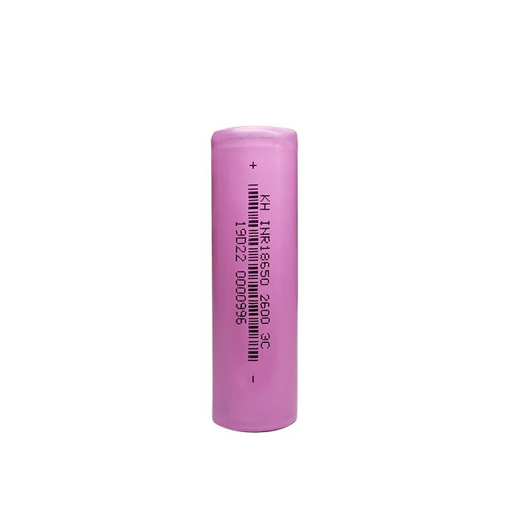 3.7v 2600Mah 3C Rechargeable 18650 Li- ion Battery