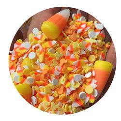 Полимерная глина в стиле Хеллоуин, конфеты, кукуруза, шприц, слайм, искусство, ремесленные принадлежности, мягкая глина для украшения ногтей