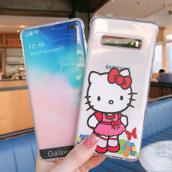 Sunny Clear TPU Phone Case Soft Flexible Light Weight Mobile Back Cover Hello Kitty Shockproof Bumpers Cellphone Accessories