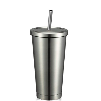 2020 Creative stainless steel reusable coffee cup with Straw