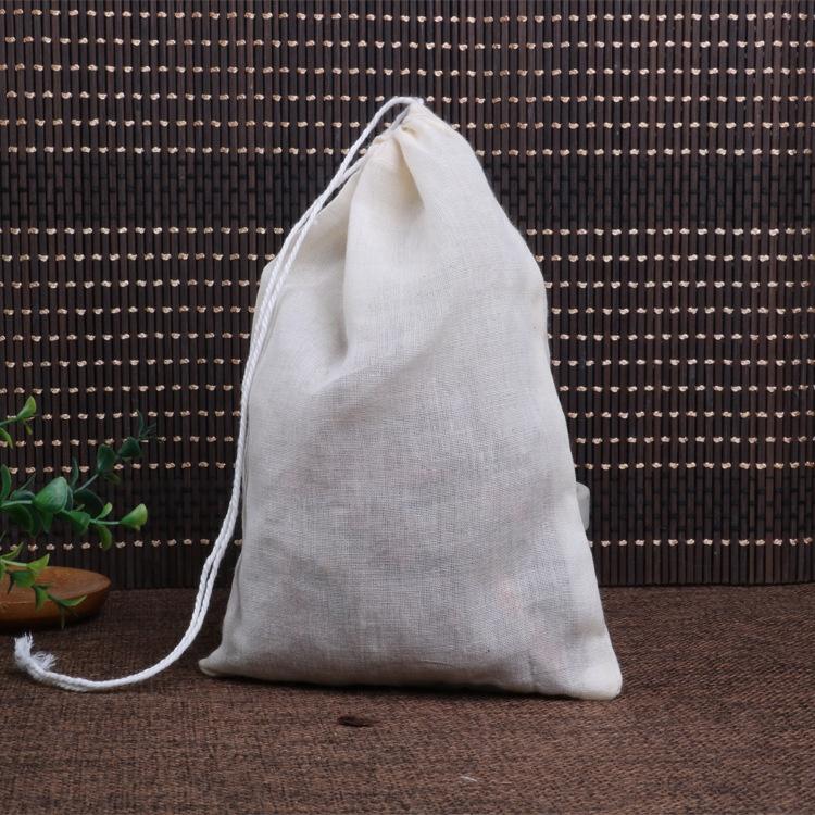 Хлопковые муслиновые сумки Sopurrrdy с зеленым подолом на шнурке