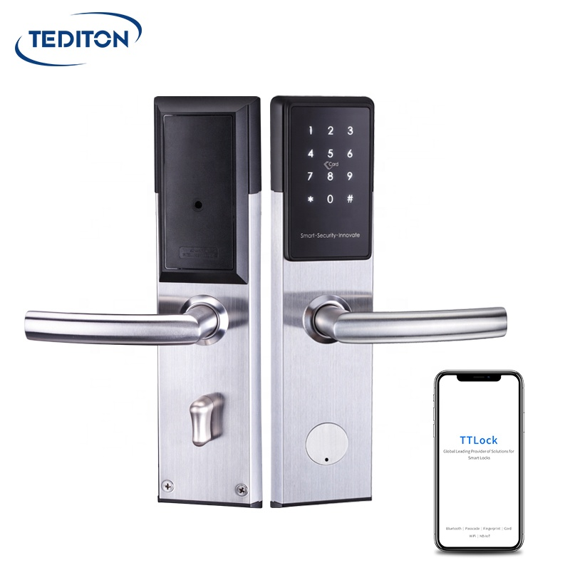 Умный дверной замок TT App BLE, водонепроницаемый биометрический замок со сканером отпечатков пальцев для раздвижных дверей из алюминия и стекла