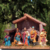 Wholesale holy family scene christmas polyresin nativity set with wooden and moss