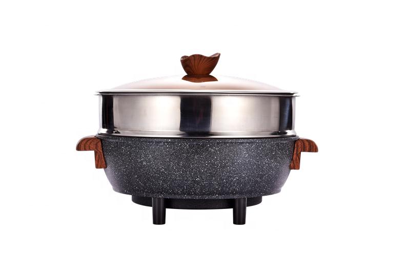 Круглая алюминиевая чугунная антипригарная сковорода для жарки, 32 см