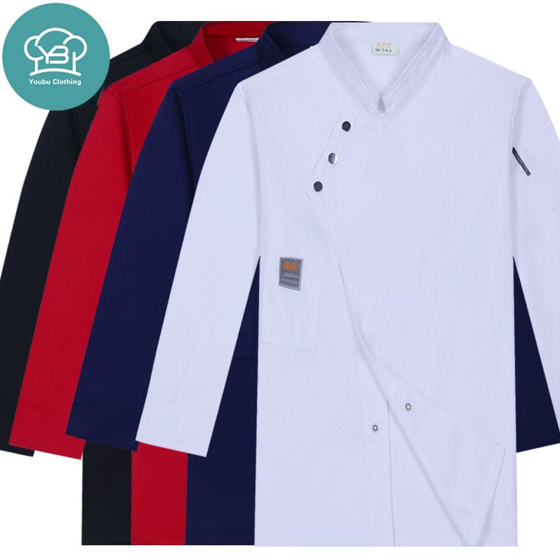 Изготовление одежды шеф-повара оптом с длинным рукавом, форма для повара, для отеля, кухни, ресторана, бара