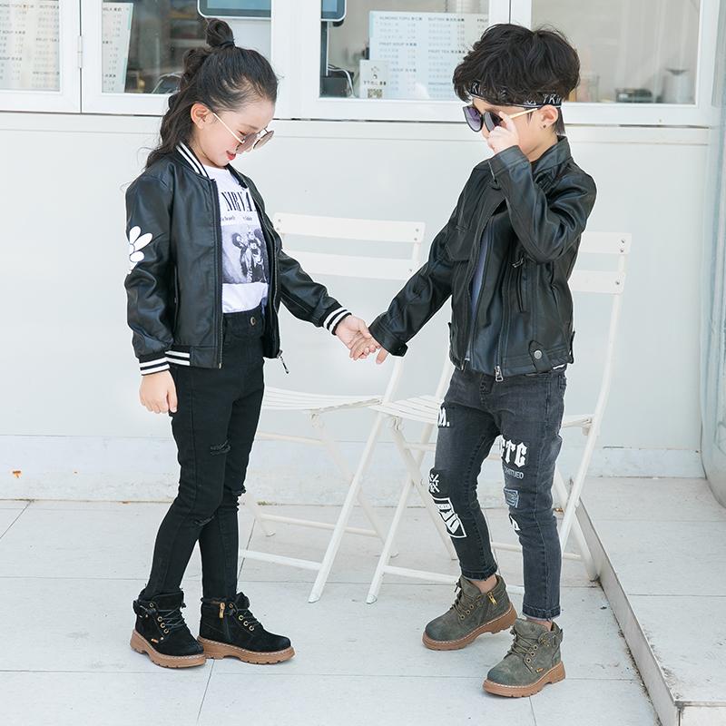 Черные детские школьные Ботинки martin, детские модные ботинки на шнуровке с боковой молнией, Детские боевые ботинки, повседневная обувь для девочек