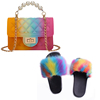 Colorful C Purse and Sandals Set