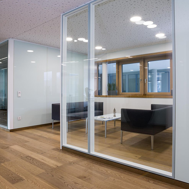 China supply customized aluminum office partition glass wall