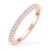 02;Rose Gold;half diamond ring