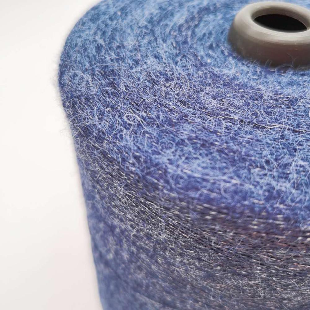Long hair viscose nylon polyester core spun yarn good price knitting yarn dyed for jersey sweater fabric 28S/2