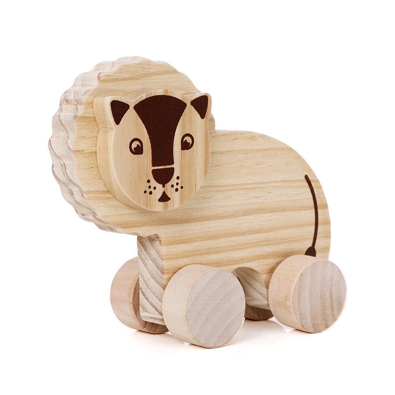 2019 самостоятельное обучение дошкольному образованию креативные игрушки-Животные Автомобили деревянные игрушки автомобиль для детей