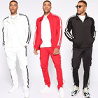 Custom 100% Polyester Mens Slim Fit Trendy Sweat Suits Set Long Sleeves Men Tracksuit Soccer Wholesale Casual Jogging Suit