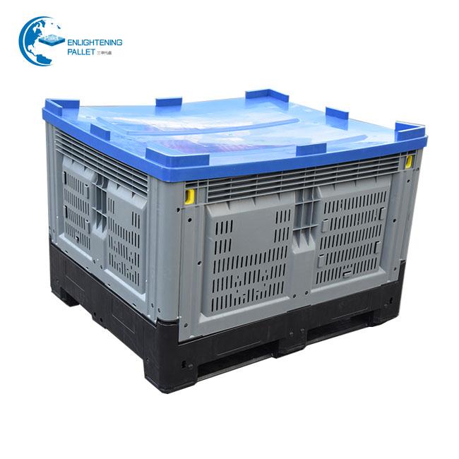 Складной складной контейнер с крышкой, пластиковые поддоны