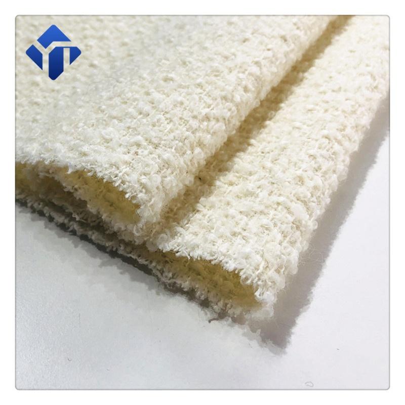 Новые товары Jiangyin, флисовая шерстяная твидовая ткань для платья букле