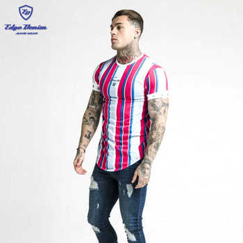 Fashion casual t-shirt for men,short sleeve gradient Siksilk round neck T-shirt for men clothes