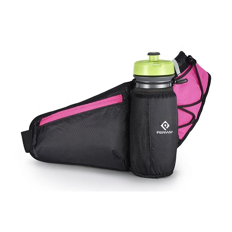 Waist bag fanny pack man Newest Design Waterproof Outdoor Sports running belt Unisex waist Bag with bottle holder