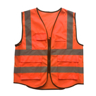 Vest Construction Vest Outdoor Construction Worker Wear Reflective Safety Vest With Multi Pockets