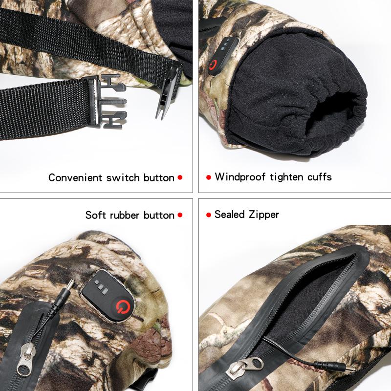 Уличная камуфляжная грелка для рук с подогревом USB ветрозащитные водонепроницаемые перчатки с подогревом для охоты рыбалки