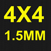 4x4 1.5mm thickness
