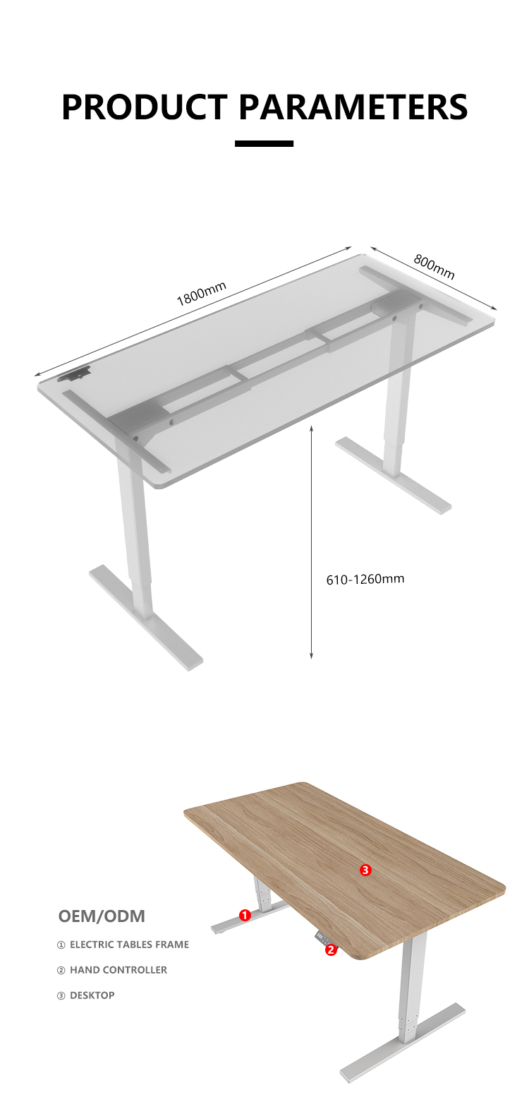 Computer Laptop Study Table sit to stand Working  Gaming Desk  adjustable height table