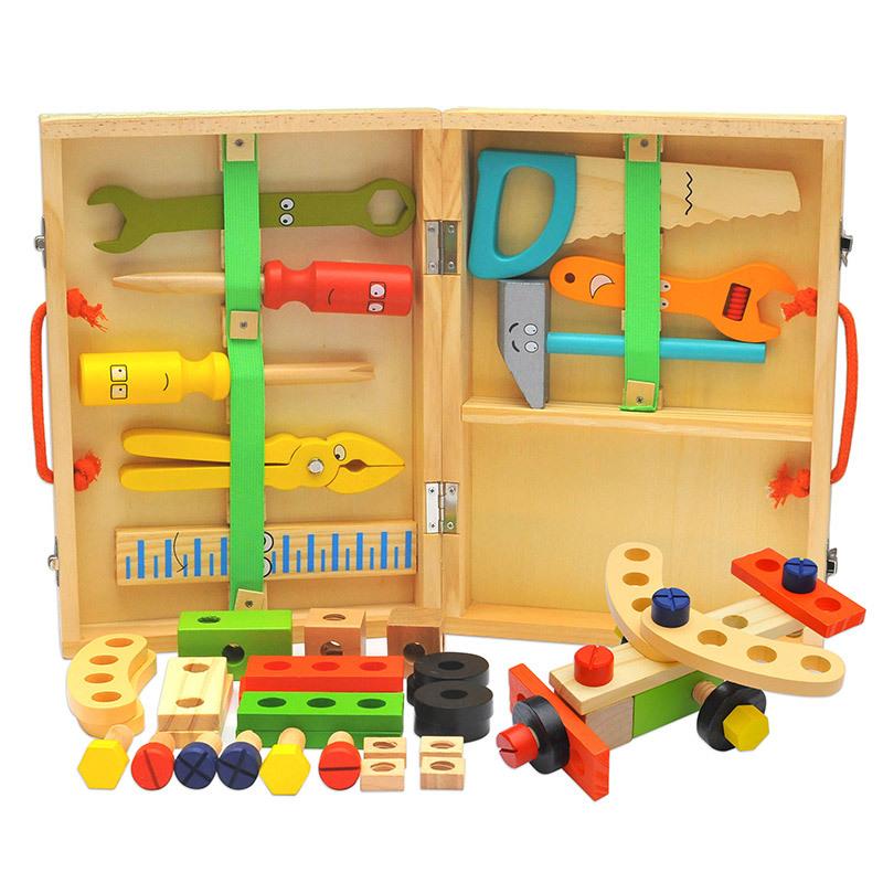 Учебное пособие по методу Монтессори, интеллектуальная тренировка, деревянный ящик для инструментов, игра, игрушка, комплект для ролевых игр, детские игрушки онлайн