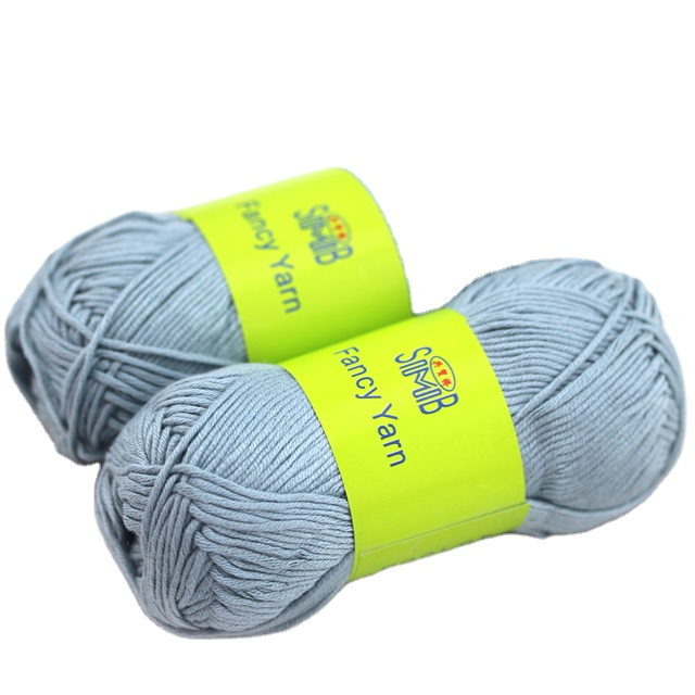 high quality dyed novelties bamboo crochet yarn for Hand Knitting Sweater or DIY Toy or spring summer sweater