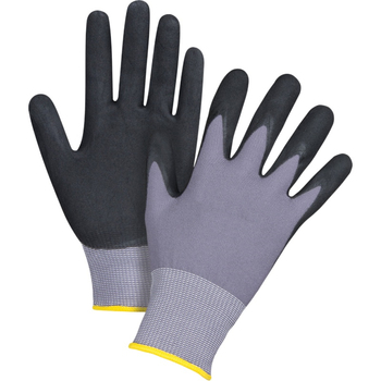 MHR SAFETY 15g purple polyester Lightweight Nitrile Foam Coated Best Work Gloves Washable_Smart Touch