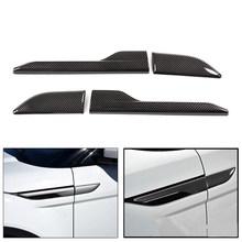 2 шт. автомобильная сторона вентиляционное отверстие крышка украшения наклейки для range Rover Evoque 2012 2013 2014-2018 углеродное волокно Черные Аксессу...(Китай)