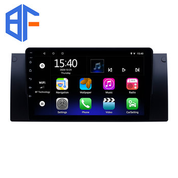 9 inch GPS Navigation Android 9.0 For 1995-2003 BMW 5 Series E39 X5 E53 Car Radio Stereo Multimedia Player Bluetooth