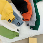 Hoodies Wholesale 100% Cotton Boys Solid Color Letter Printing Hoodies Kids