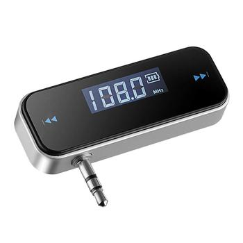 Universal Car Fm Transmitter For Mobile Phone Laptop Any Devices With 3.5mm Earphone Jack