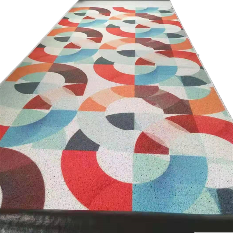 Amazon hot selling pvc printing coil mat pattern customized rolls and doormats