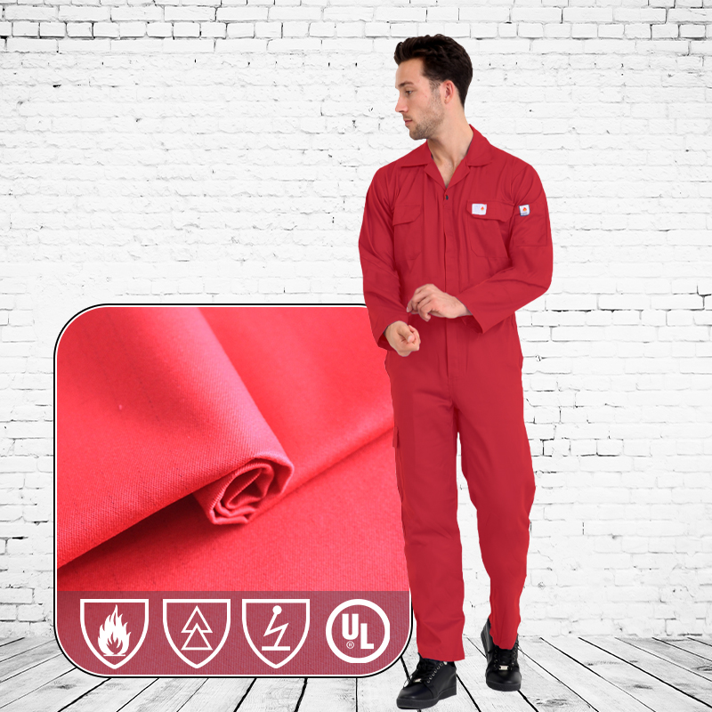 Functional Modacrylic Cotton Blended Fire Resistant Fabric For Clothing
