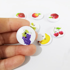 wholesale custom sizes fruit printed round nature wood buttons for clothes
