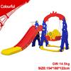 Red baby slide swing