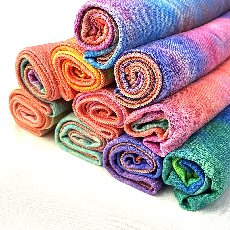 cool towel instant cooling tie dyed fabric suppliers jersey tie dye kit fabric for sportswear poliester