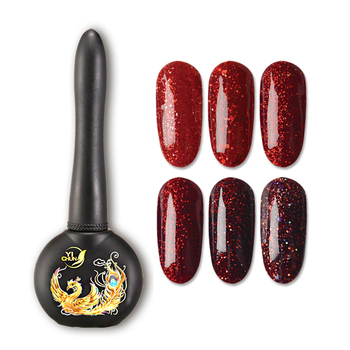 15 ml Best Selling High Gloss Glitter Red Diamond Platinum Powder Gel Polish Nails Supplies for Nail Salon